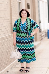 NY Collection Zig Zag Maxi Dress