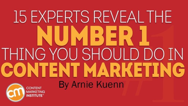 My No. 1 tip for content marketing success!