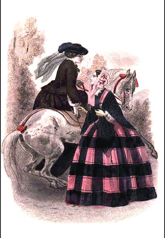 Fashion Plate-Riding Habit