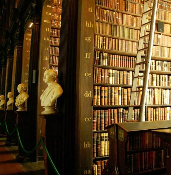 Trinity College Library ~ Dublin, Ireland. Image Source: Pixabay CCO PD.