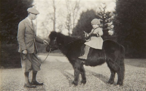 Little Elizabeth, age four, astride her first Shetland pony. Image Source: The Royal Collection via Telegraph.co.uk.