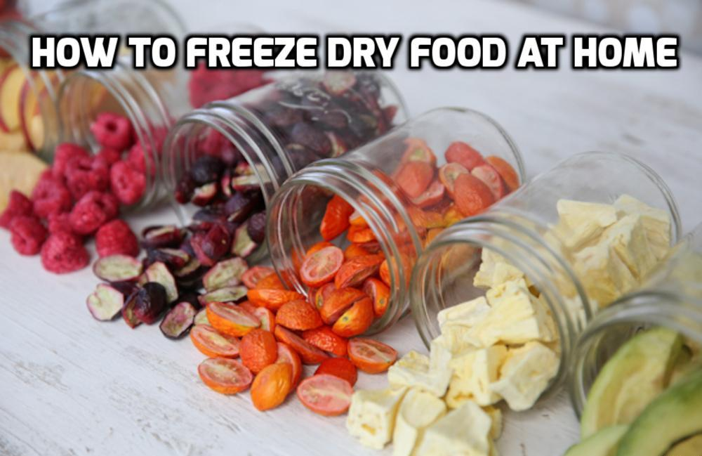 How To Freeze Dry Food At Home