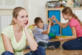 frustrated mother