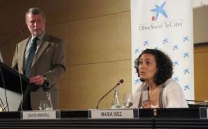 David Amaral, diretor científico do Instituto MIND, na Califórnia, com María Díez-Juan também membro do Instituto MIND, na Califórnia