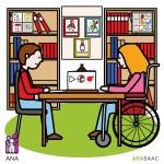 Todas las bibliotecas de Navarra se señalizarán con pictogramas