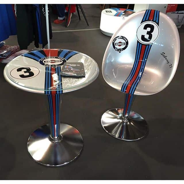 Martini Racing Design - Tisch und Stühle