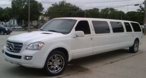 Mercedes GL-Faced Ford Excursion limousine
