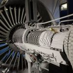 Trent 1000 engine replica in lego