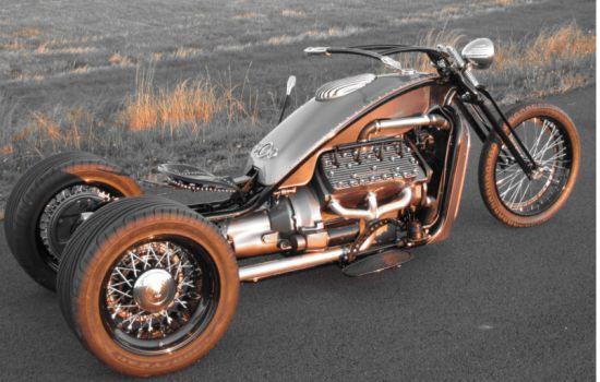 Ford Flathead V8 powered trike 3