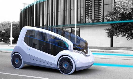 Designers imagine city electric car for Czech automaker in Skoda ONE
