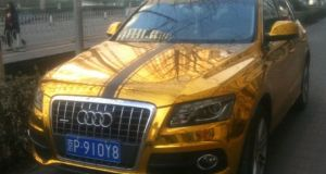 Gold plated Audi Q5 SUV