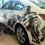 Humberto Ramos' Avengers Artwork on Acura TL  3