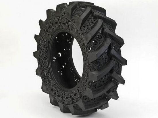 Wim Delvoye art on tires