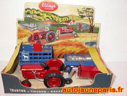 rare coffret Vilmer avec tracteur Bukh