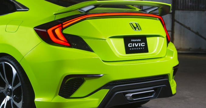 2016 Honda Civic Rear