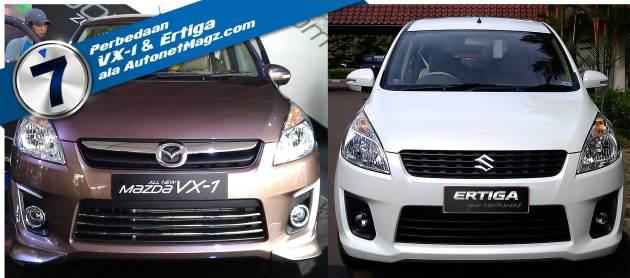 7 Perbedaan Mazda VX-1 dan Suzuki Ertiga
