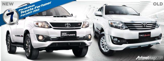 Perbedaan Toyota Fortuner lama dan baru