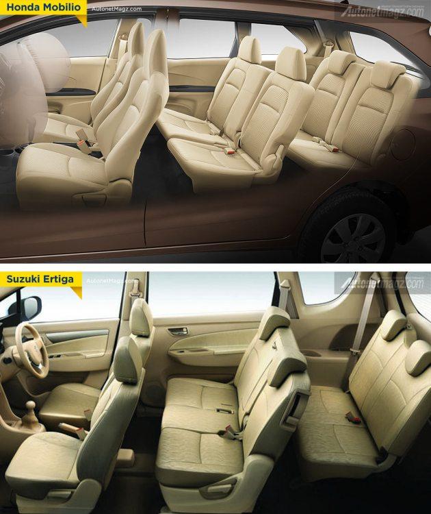 Kabin Honda Mobilio vs Suzuki Ertiga