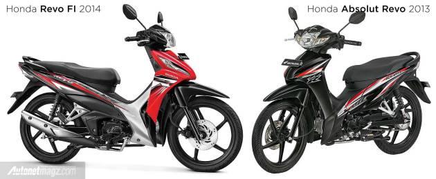 Perbedaan Honda Revo lama dan Honda Revo baru 2014