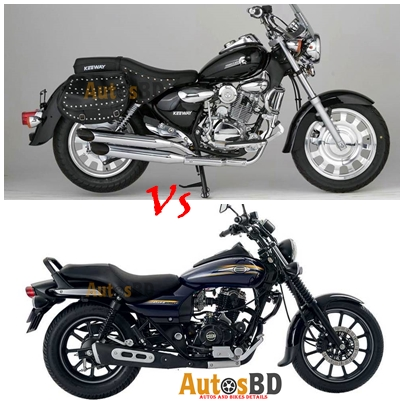 Comparison KeeWay Superlight 150 Vs Bajaj Avenger 150 Street