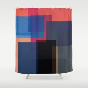 when the walls fall - shower curtain