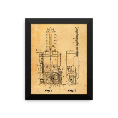 Mining Machine Framed poster