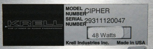 Krell Cipher Serial