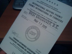 International Driving Permit (Canada)