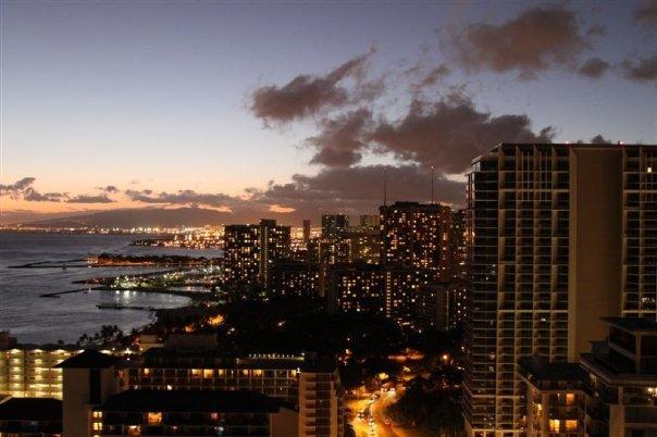 Waikiki Before Hurricane Felicia August 2009