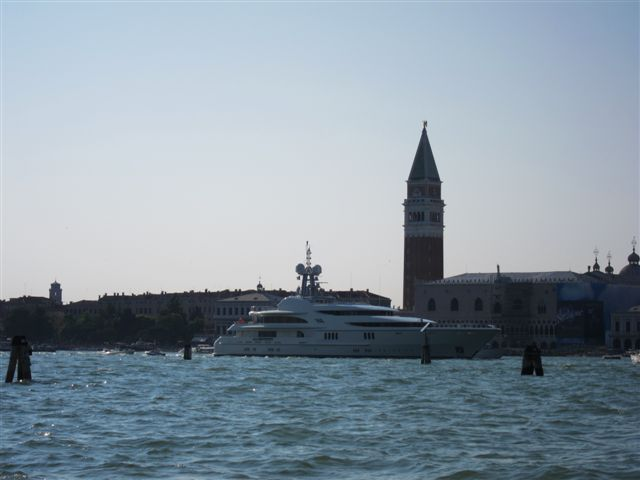 Yacht passing Piazza San Marco, Venice
