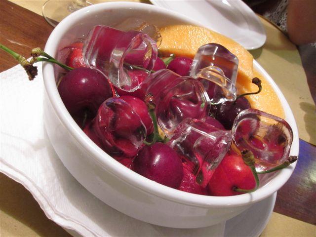Fruit Bowl for Dessert in Venice