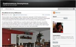Gastronomous Anonymous Food Blog