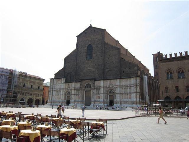 Piazza Maggiore the Main Square in Bologna