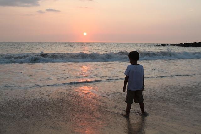 First Sunset at Hapuna Beach Hawaii