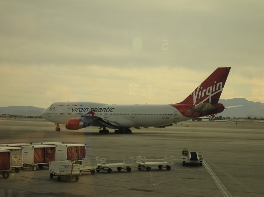 Virgin 747 McCarron Airport Las Vegas