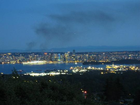 Smoke Over Downtown Vancouver After Game 7