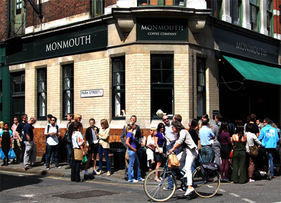 Monmouth Coffee Queue at Borough Market