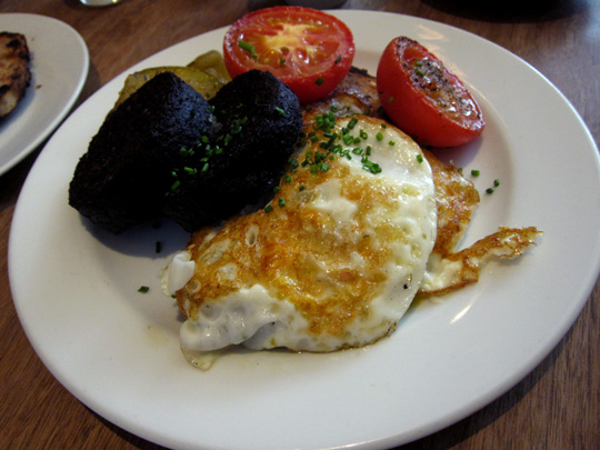 Black Pudding FryUp at The Providores Marylebone