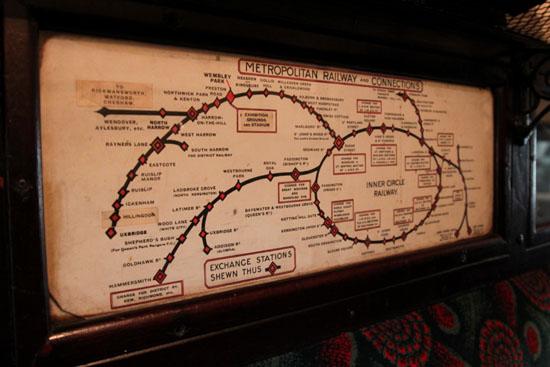 Meropolitan Railway Map London Transport Museum