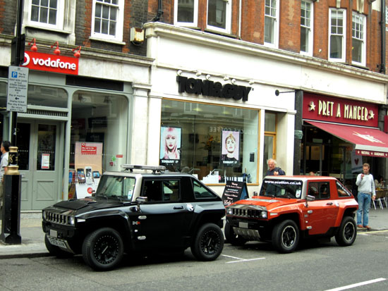 Mini Electric Humvees in Marylebone
