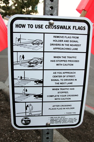 Port Angeles Pedestrian Flag Instructions