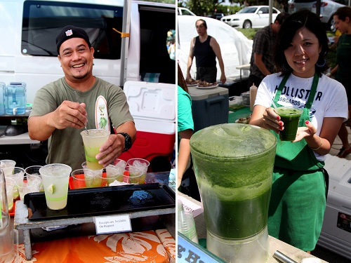 Drink Vendors at Kapiolani Saturday Market