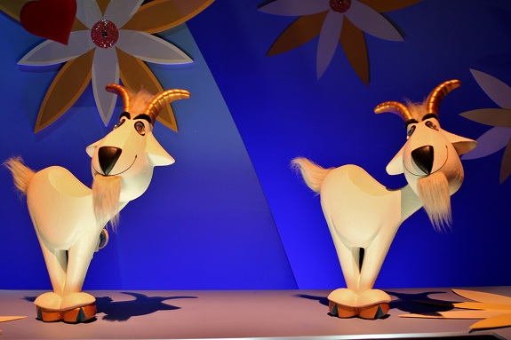 HK Disney Small World Goats