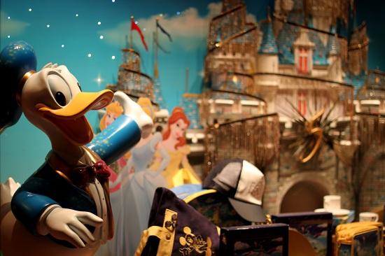 Donald and the Castle Disneyland Emporium Window Display