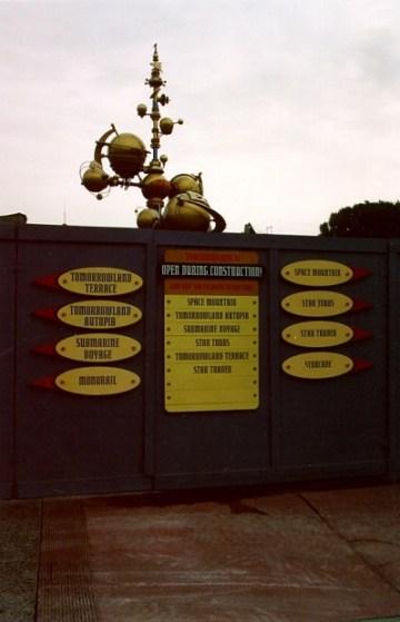 Tomorrowland 1997 Construction Signage
