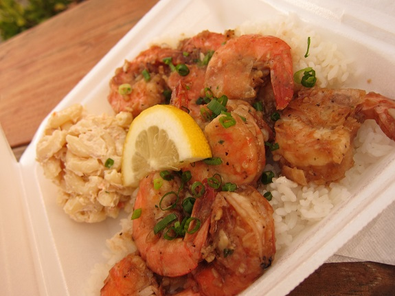 Tita's Grill Garlic Shrimp North Shore Oahu Hawaii