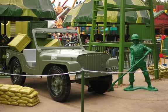 Full Sized Toy Jeep at Hong Kong Disneyland