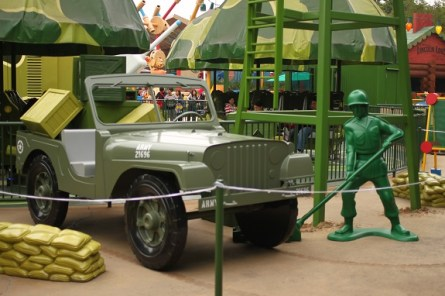 Full Sized Toy Jeep at Hong Kong Disneyland