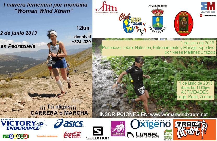 Carrera y marcha woman wind xtrem