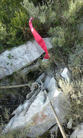 Cuerdas de seguridad para subir a la cima